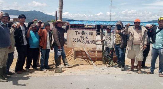 Seratusan Masyarakat Desa Sukamaju Karo Lakukan Perlawanan Terhadap PT BUK